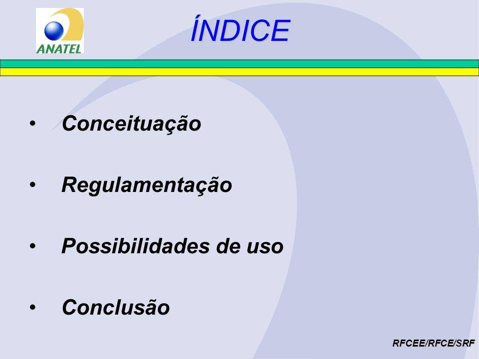 ÍNDICE Conceituação Regulamentação Possibilidades de uso Conclusão