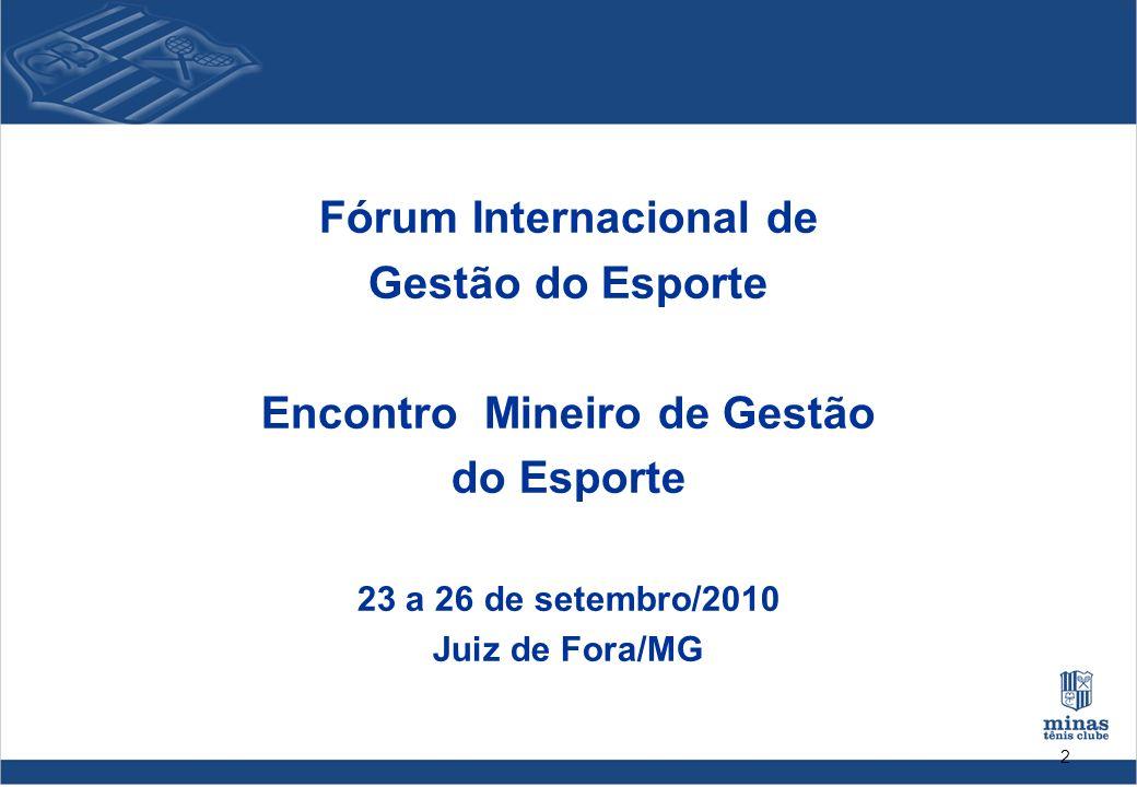 Fórum Internacional de Encontro Mineiro de Gestão
