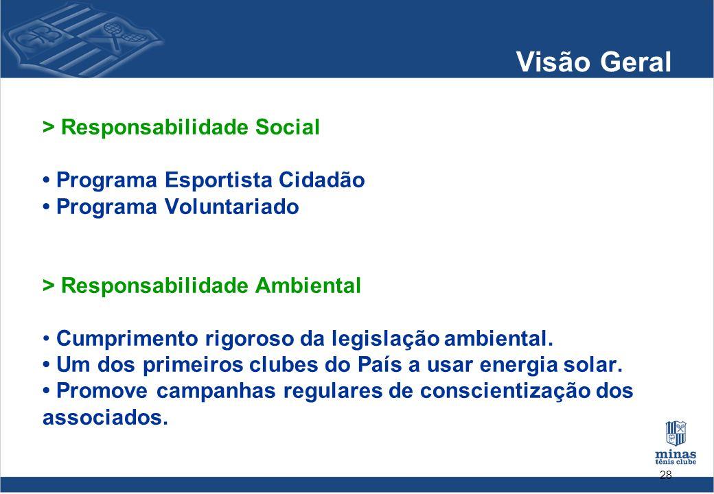 Visão Geral > Responsabilidade Social • Programa Esportista Cidadão