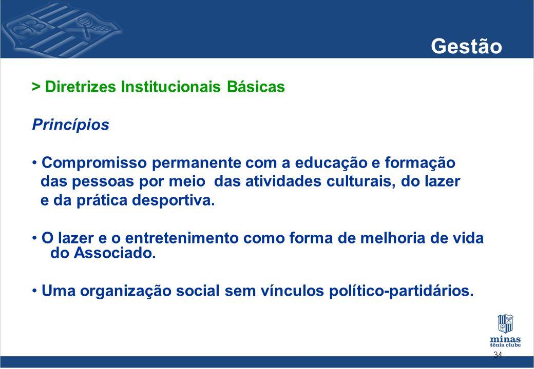Gestão > Diretrizes Institucionais Básicas Princípios