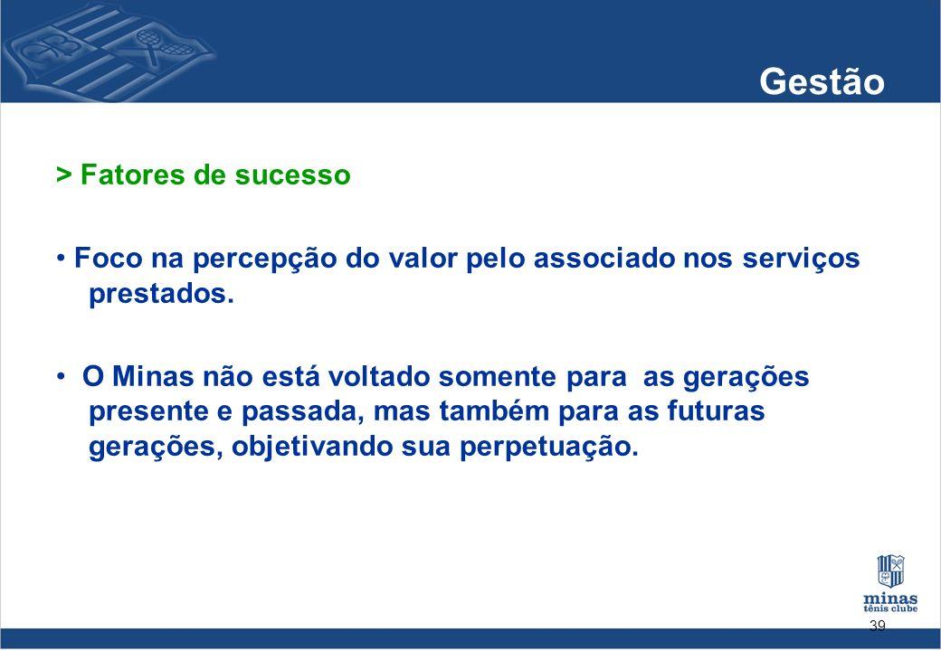 Gestão > Fatores de sucesso