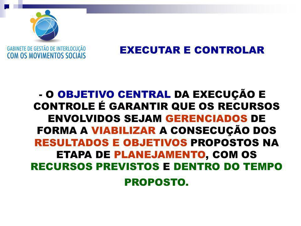EXECUTAR E CONTROLAR