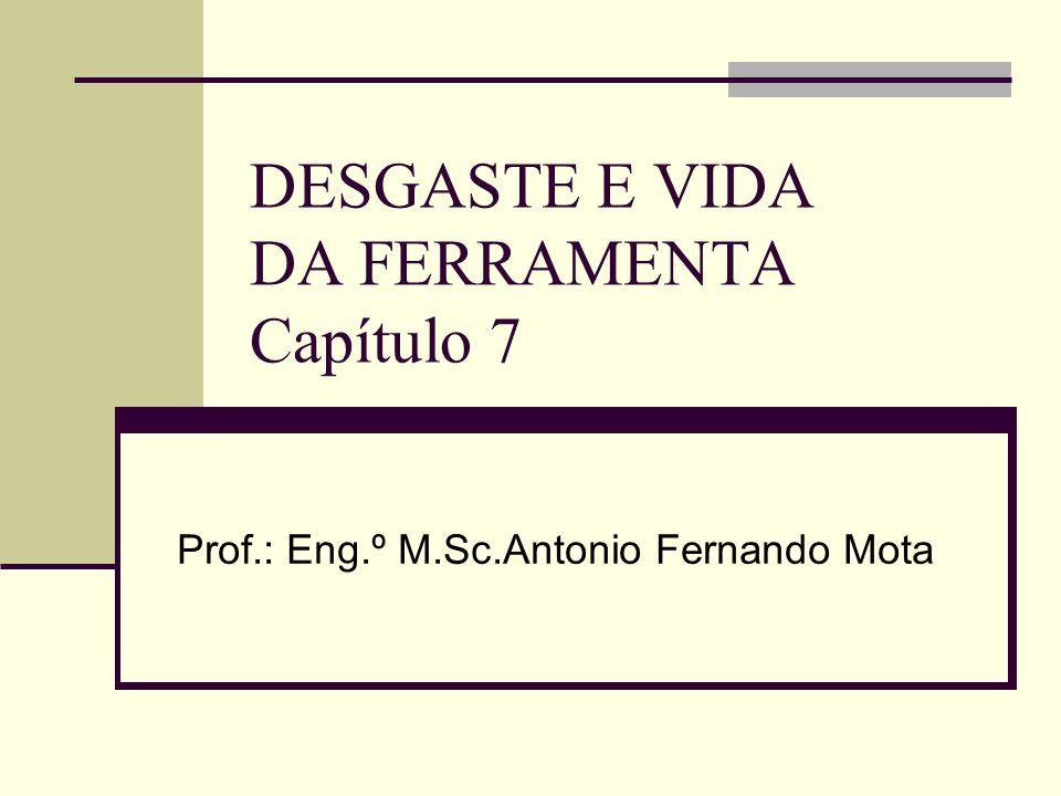 DESGASTE E VIDA DA FERRAMENTA Capítulo 7