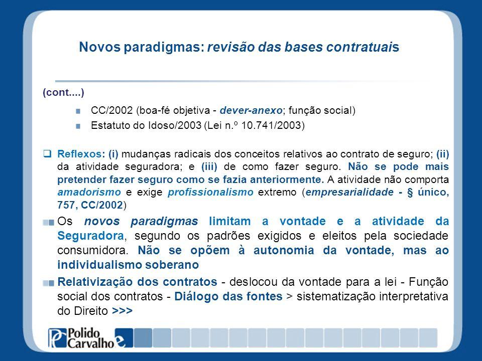 Novos paradigmas: revisão das bases contratuais