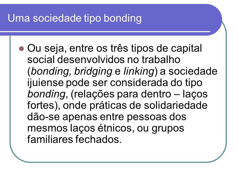 Uma sociedade tipo bonding