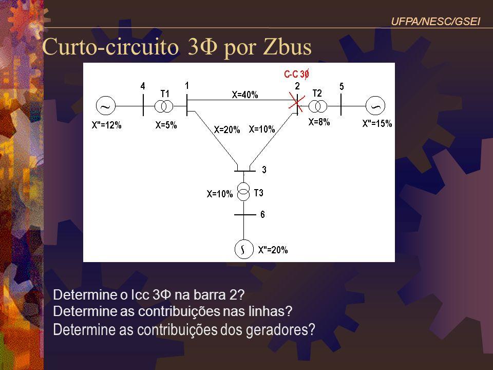 Curto-circuito 3Φ por Zbus