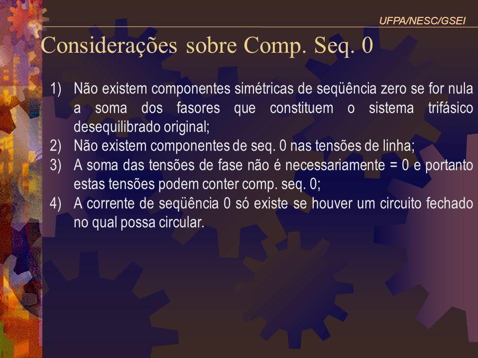 Considerações sobre Comp. Seq. 0