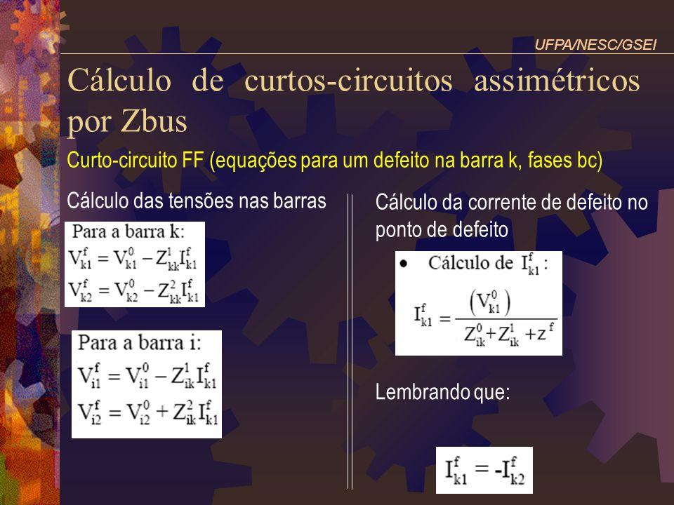 Cálculo de curtos-circuitos assimétricos por Zbus