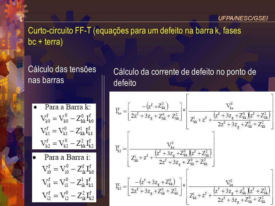 Cálculo da corrente de defeito no ponto de defeito