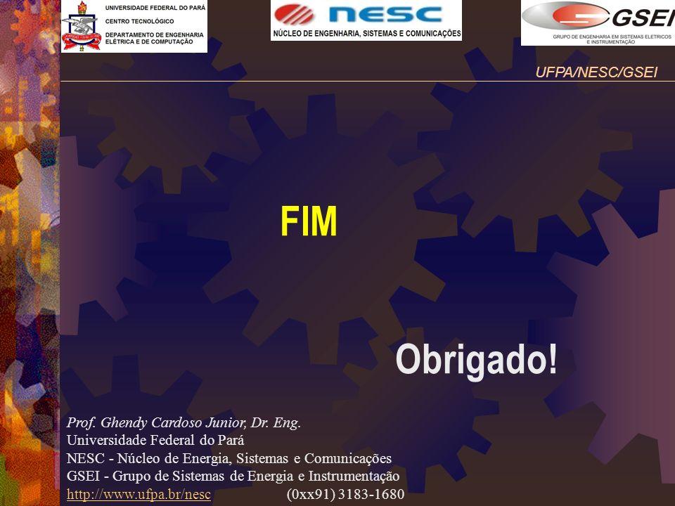 FIM Obrigado! UFPA/NESC/GSEI Prof. Ghendy Cardoso Junior, Dr. Eng.