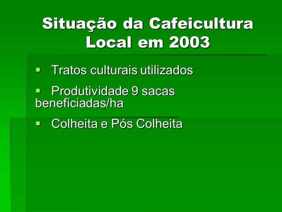 Situação da Cafeicultura Local em 2003