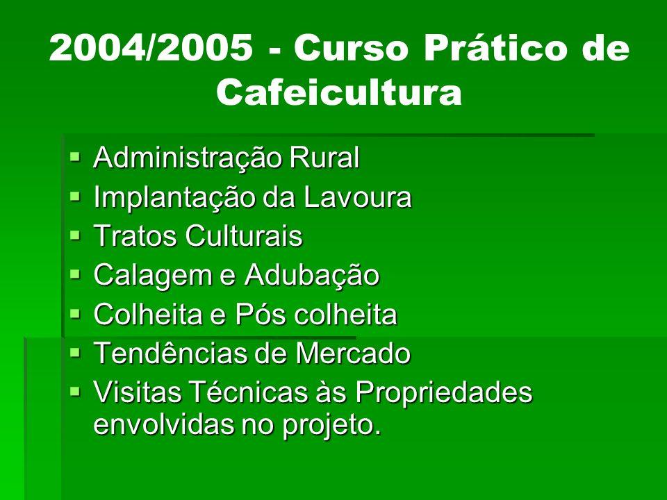 2004/2005 - Curso Prático de Cafeicultura
