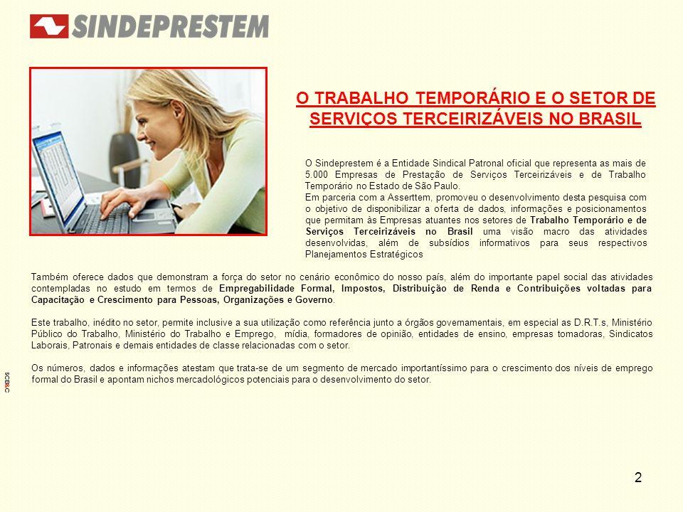 O TRABALHO TEMPORÁRIO E O SETOR DE SERVIÇOS TERCEIRIZÁVEIS NO BRASIL