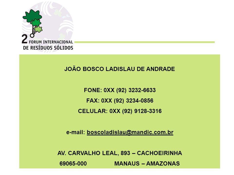 JOÃO BOSCO LADISLAU DE ANDRADE