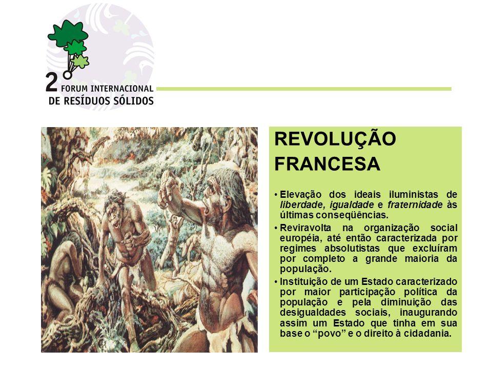 REVOLUÇÃO FRANCESA. Elevação dos ideais iluministas de liberdade, igualdade e fraternidade às últimas conseqüências.
