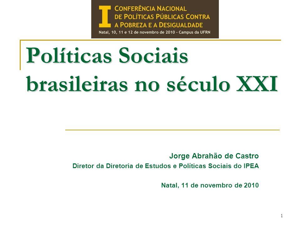 Políticas Sociais brasileiras no século XXI