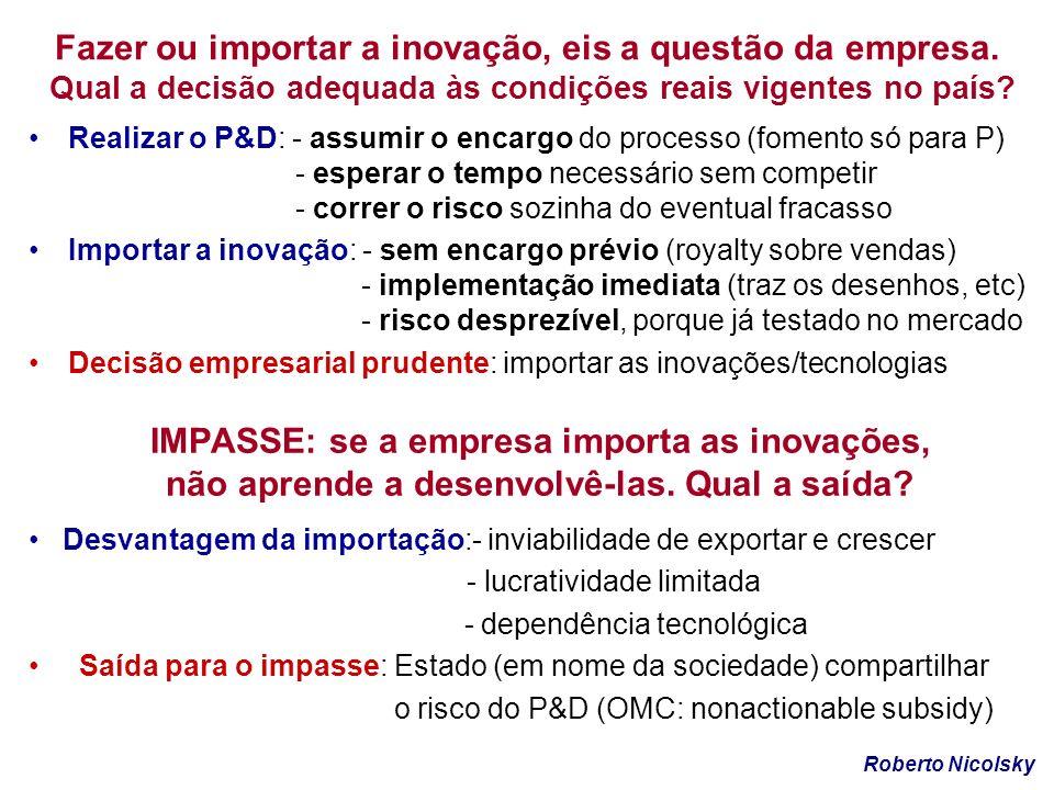 Fazer ou importar a inovação, eis a questão da empresa.