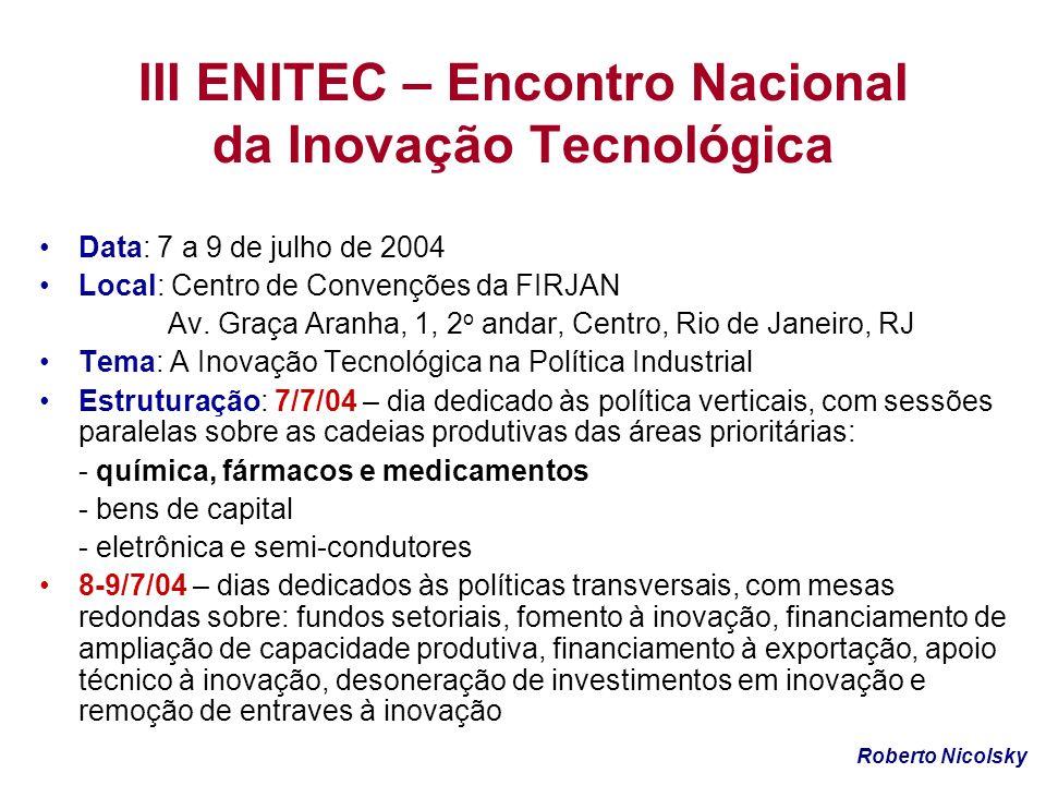 III ENITEC – Encontro Nacional da Inovação Tecnológica