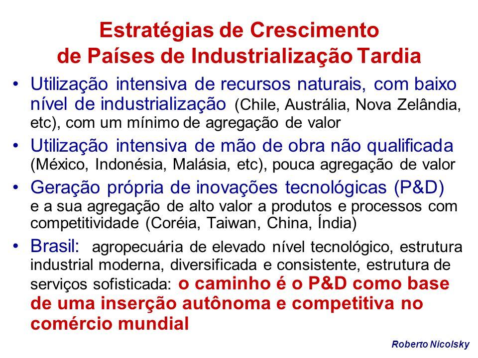 Estratégias de Crescimento de Países de Industrialização Tardia