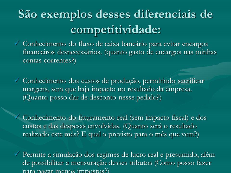 São exemplos desses diferenciais de competitividade: