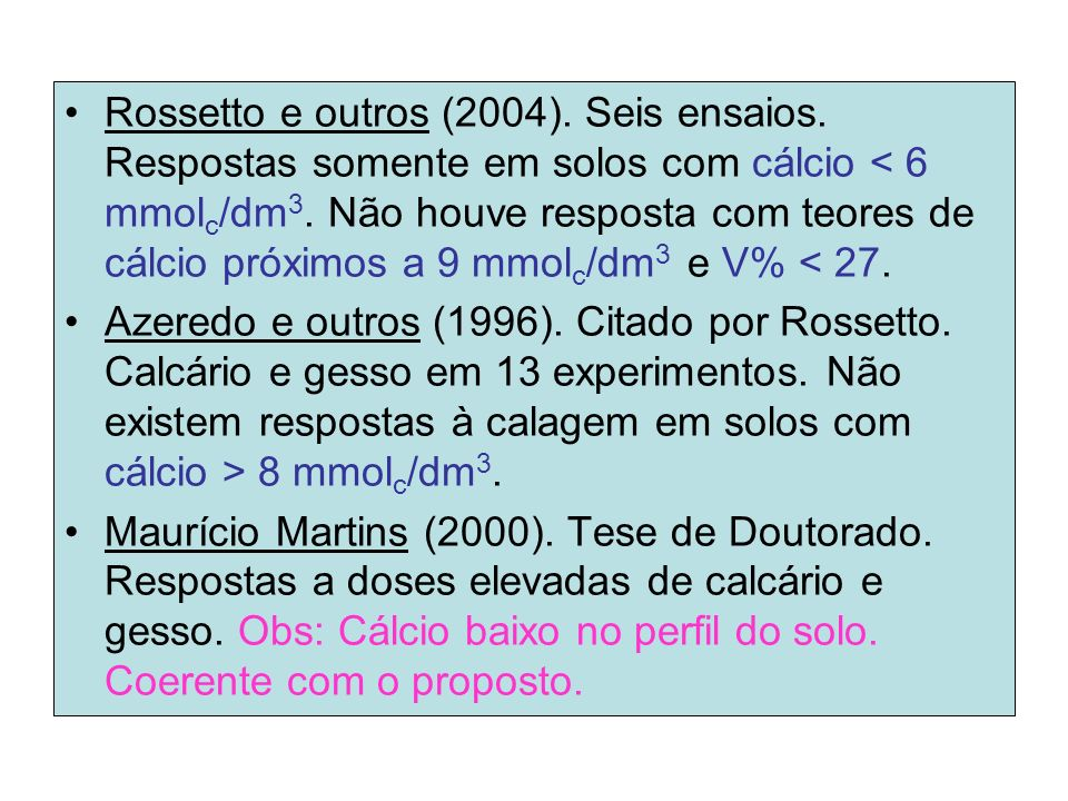 Rossetto e outros (2004). Seis ensaios