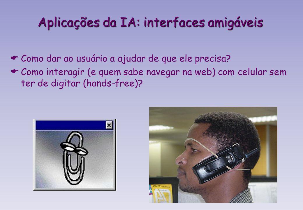 Aplicações da IA: interfaces amigáveis