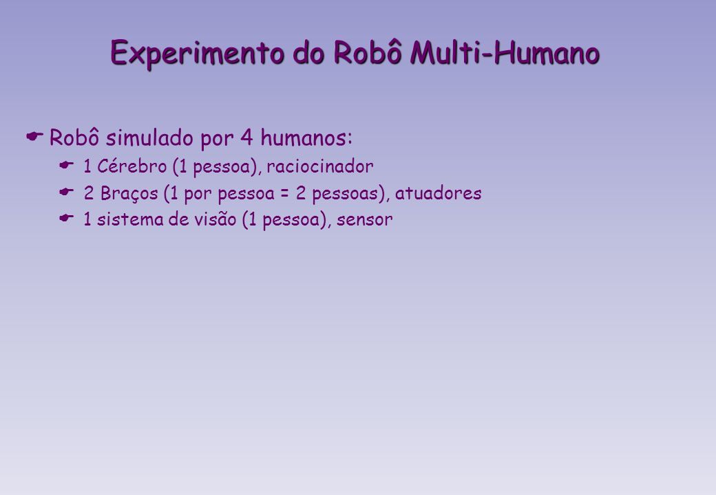Experimento do Robô Multi-Humano
