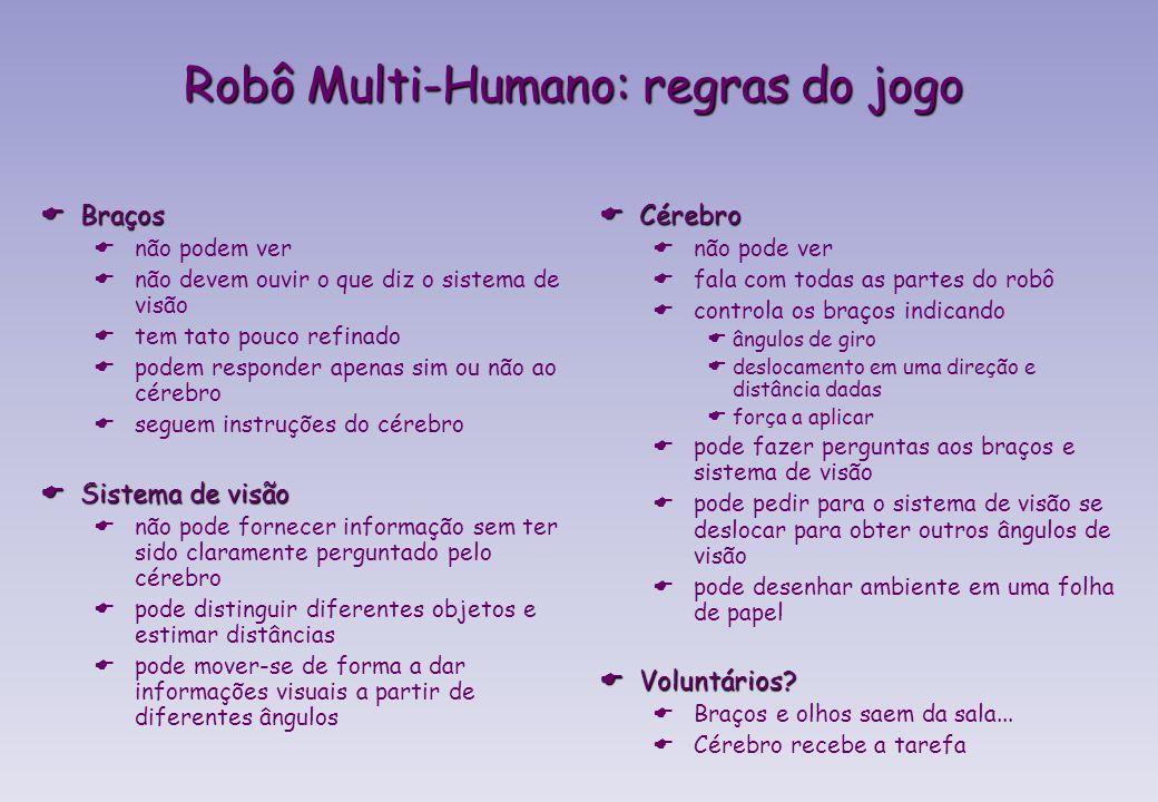 Robô Multi-Humano: regras do jogo