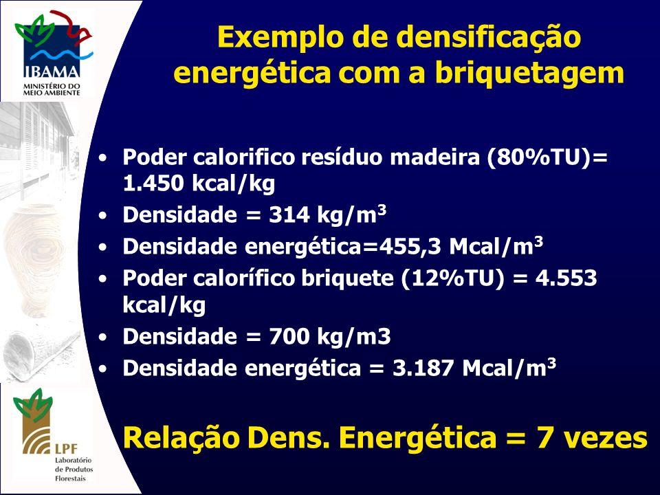 Exemplo de densificação energética com a briquetagem