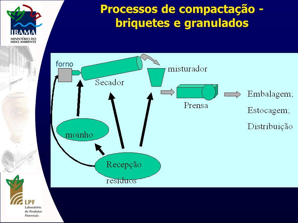 Processos de compactação - briquetes e granulados
