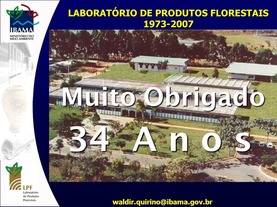 LABORATÓRIO DE PRODUTOS FLORESTAIS 1973-2007