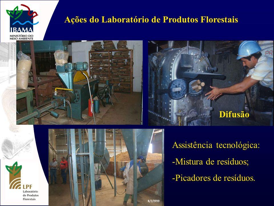 Ações do Laboratório de Produtos Florestais