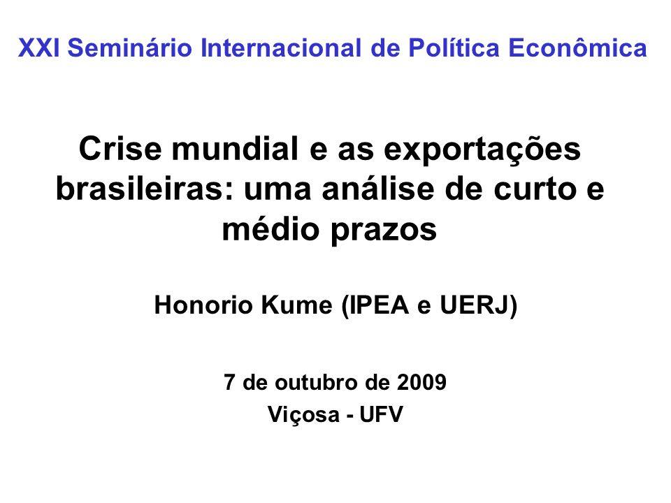 Honorio Kume (IPEA e UERJ) 7 de outubro de 2009 Viçosa - UFV