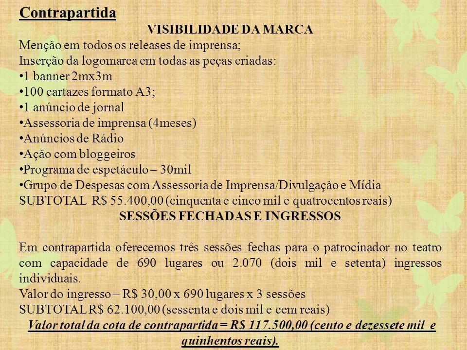 SESSÕES FECHADAS E INGRESSOS