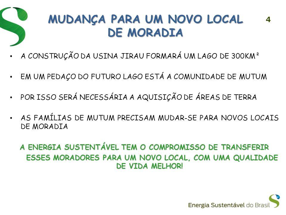MUDANÇA PARA UM NOVO LOCAL DE MORADIA