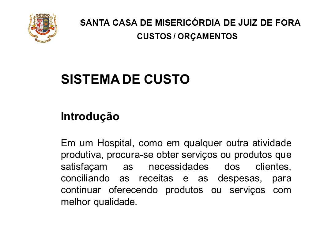 SISTEMA DE CUSTO Introdução