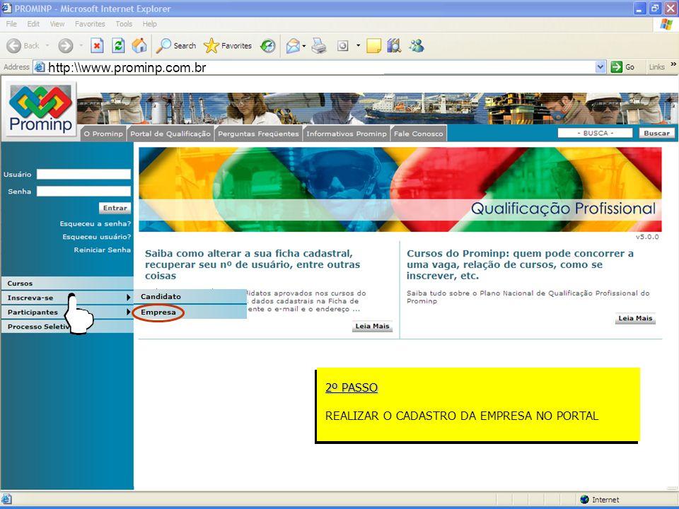 Portal de Emprego do Prominp