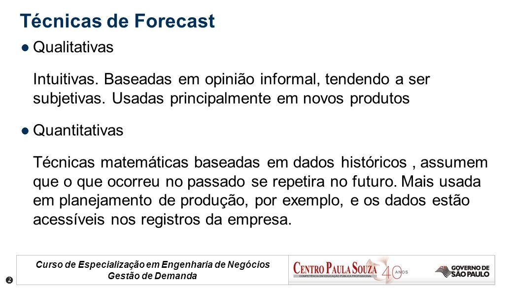Técnicas de Forecast Qualitativas