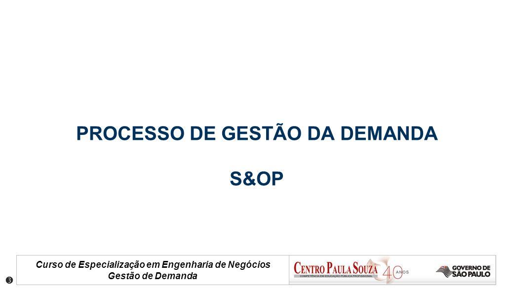 PROCESSO DE GESTÃO DA DEMANDA S&OP