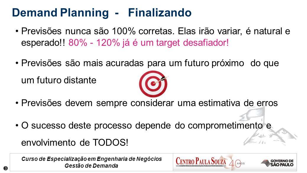 Demand Planning - Finalizando