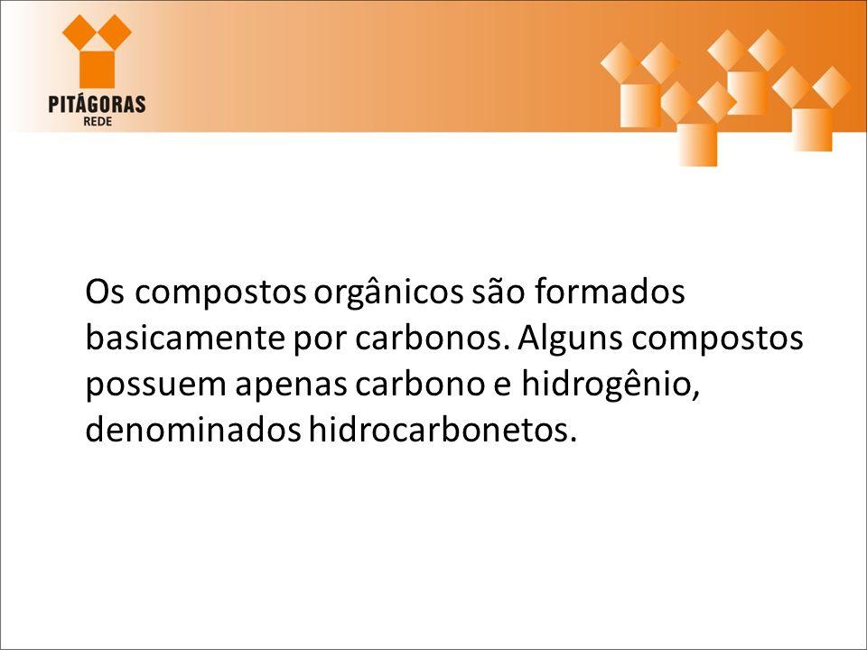 Os compostos orgânicos são formados basicamente por carbonos