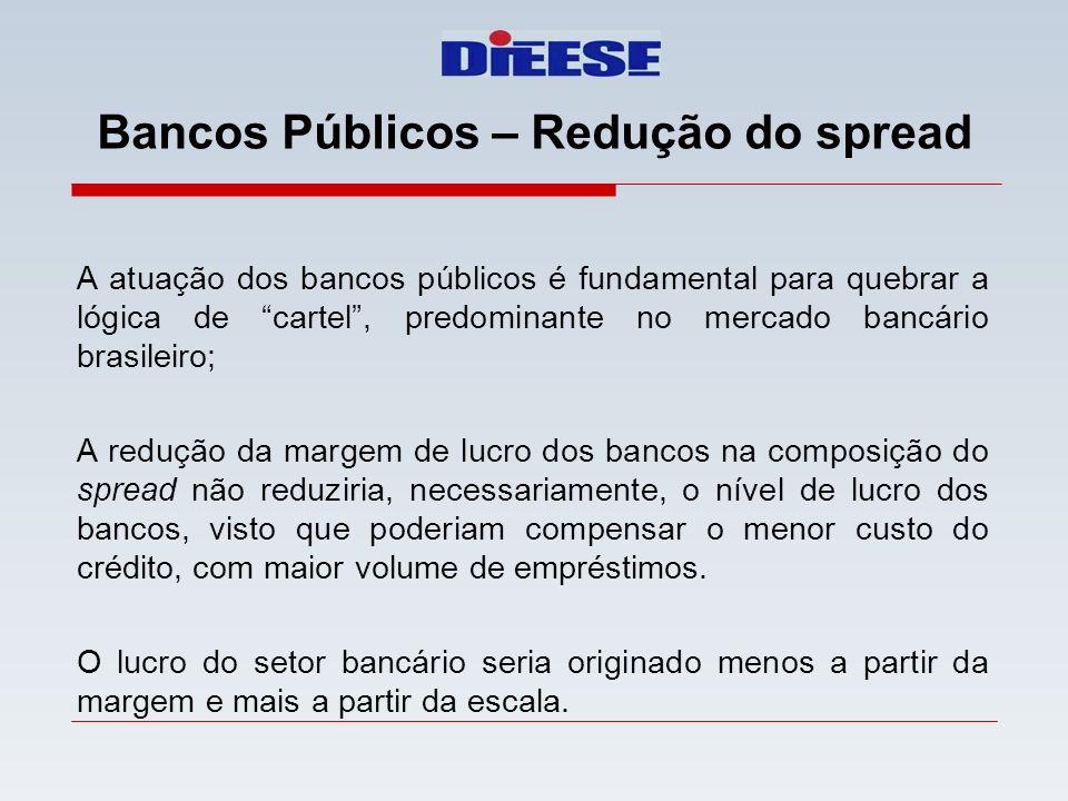 Bancos Públicos – Redução do spread