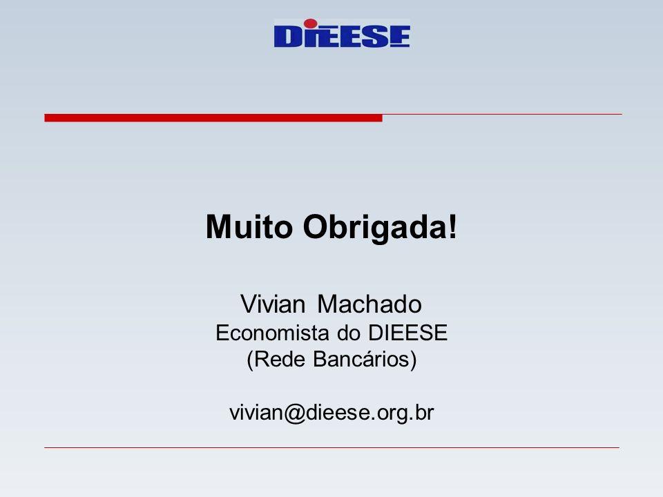 Muito Obrigada! Vivian Machado Economista do DIEESE (Rede Bancários)