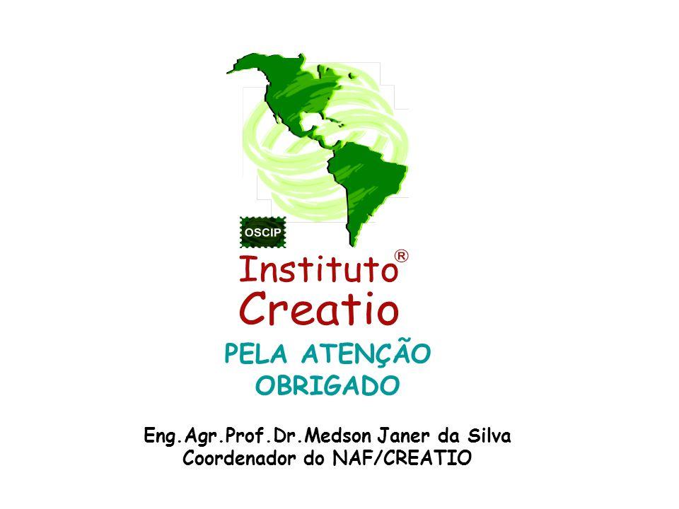 Eng.Agr.Prof.Dr.Medson Janer da Silva Coordenador do NAF/CREATIO