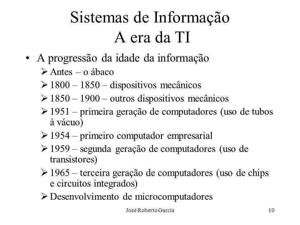 Sistemas de Informação A era da TI