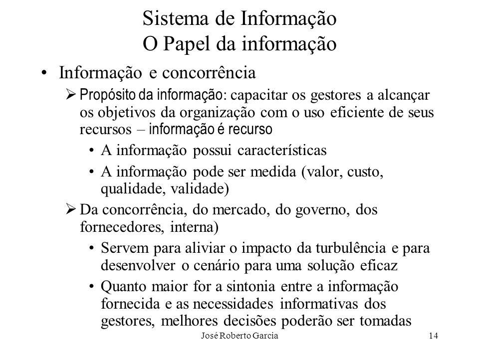 Sistema de Informação O Papel da informação