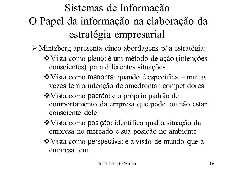Sistemas de Informação O Papel da informação na elaboração da estratégia empresarial