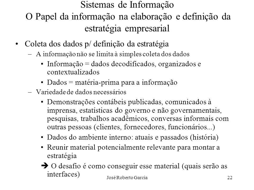 Sistemas de Informação O Papel da informação na elaboração e definição da estratégia empresarial