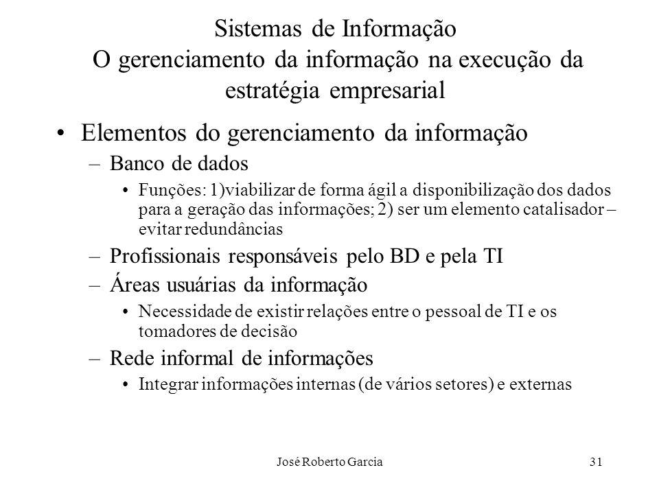 Elementos do gerenciamento da informação