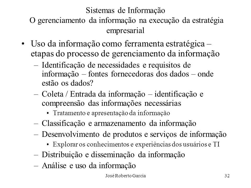 Sistemas de Informação O gerenciamento da informação na execução da estratégia empresarial